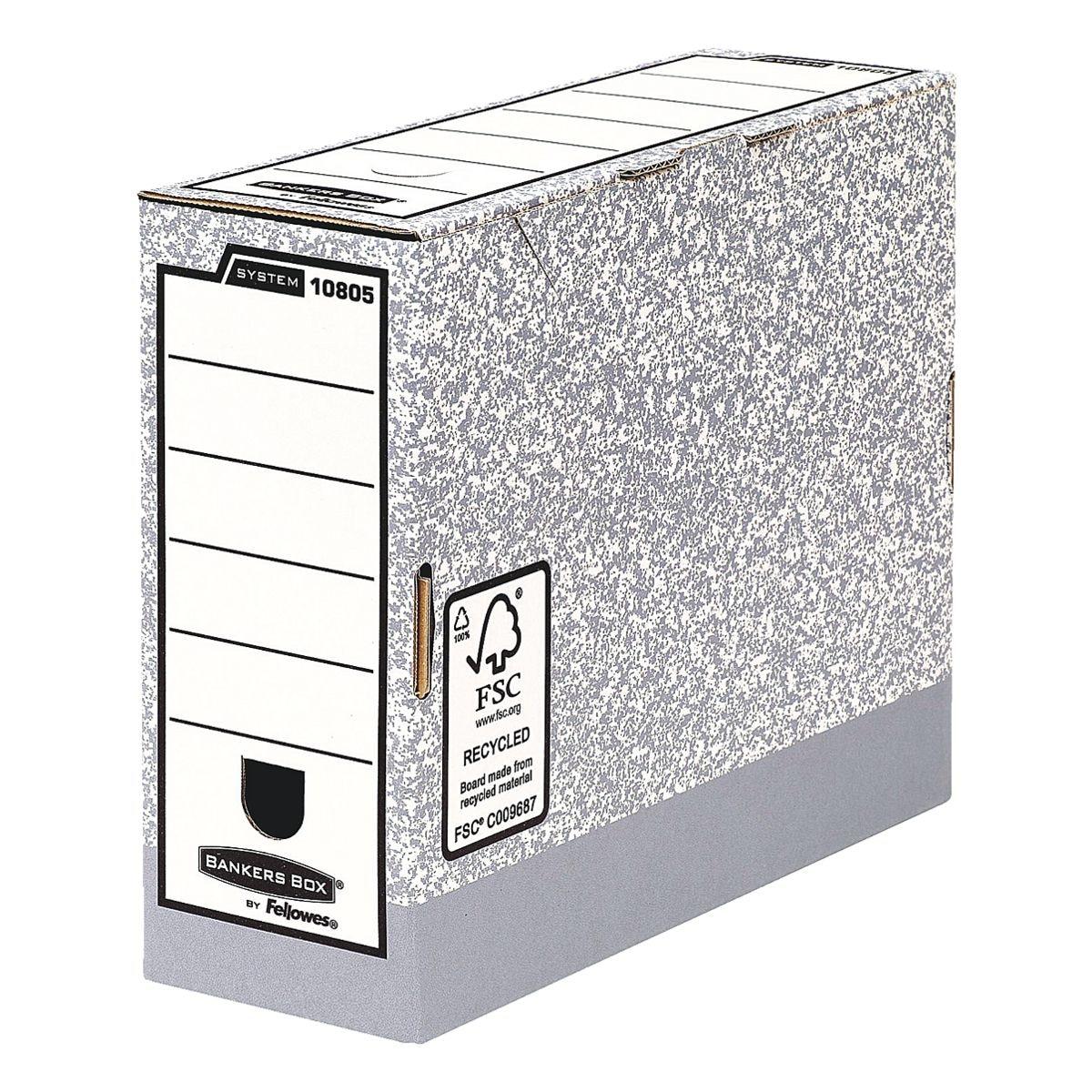 Bankers Box System Boîtes à archives larges - 10 pièces