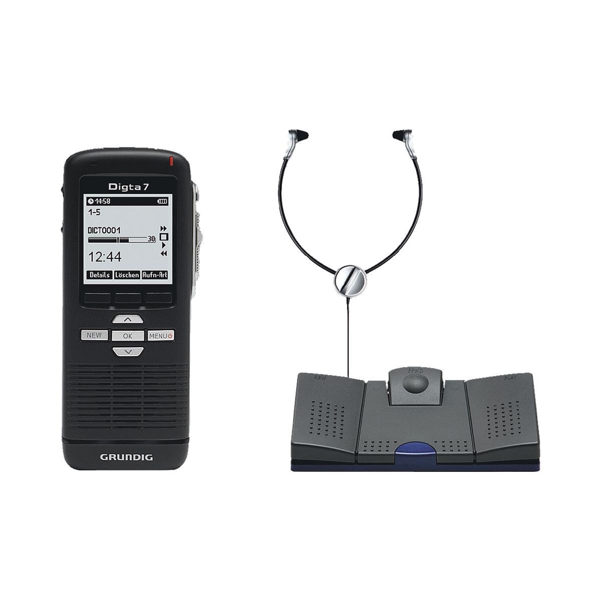 GRUNDIG Business Systems Lot dictaphone numérique « Digta 7 Starter-Kit »
