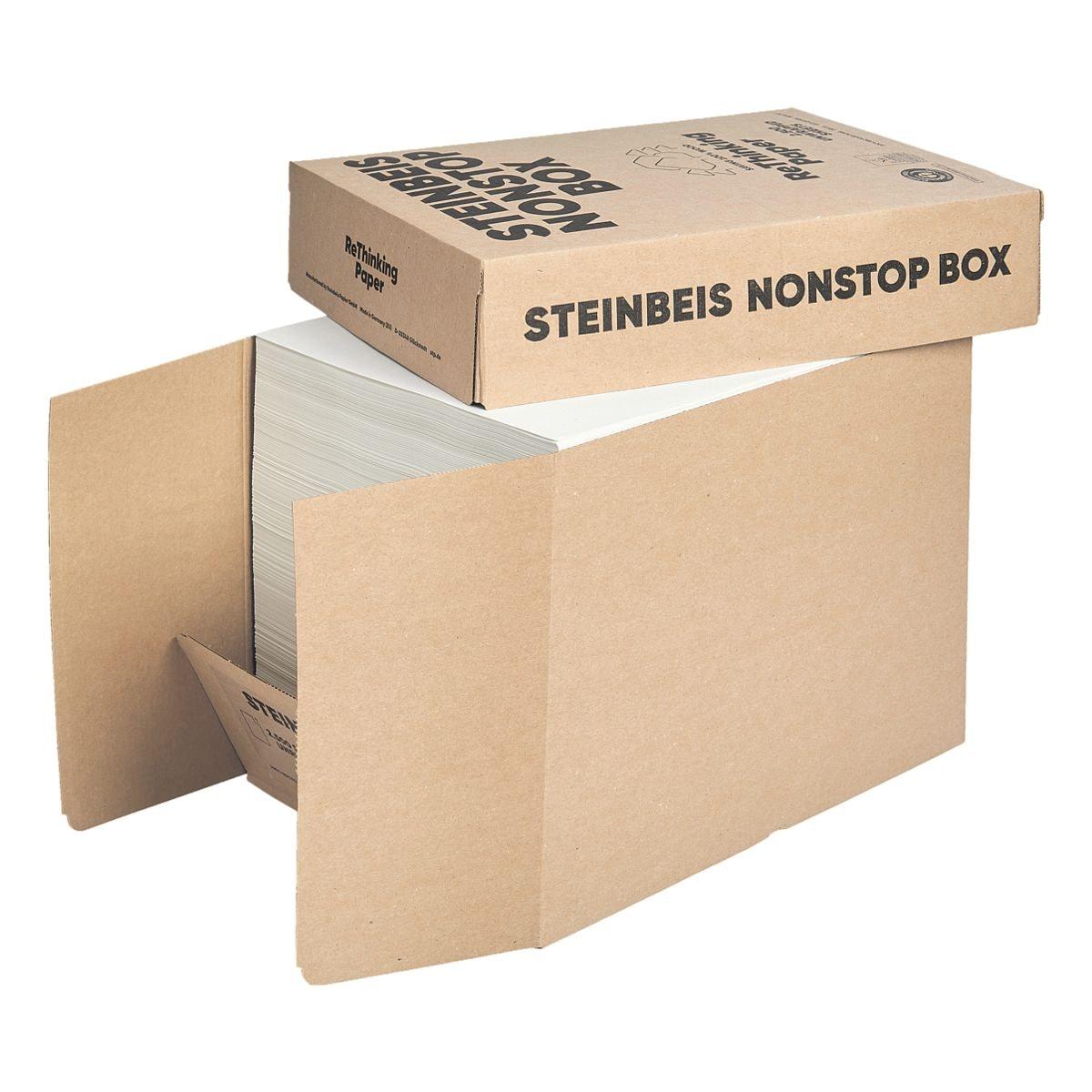 Boîte-éco de papier recyclé A4 Steinbeis Trend White - 2500 feuilles au total