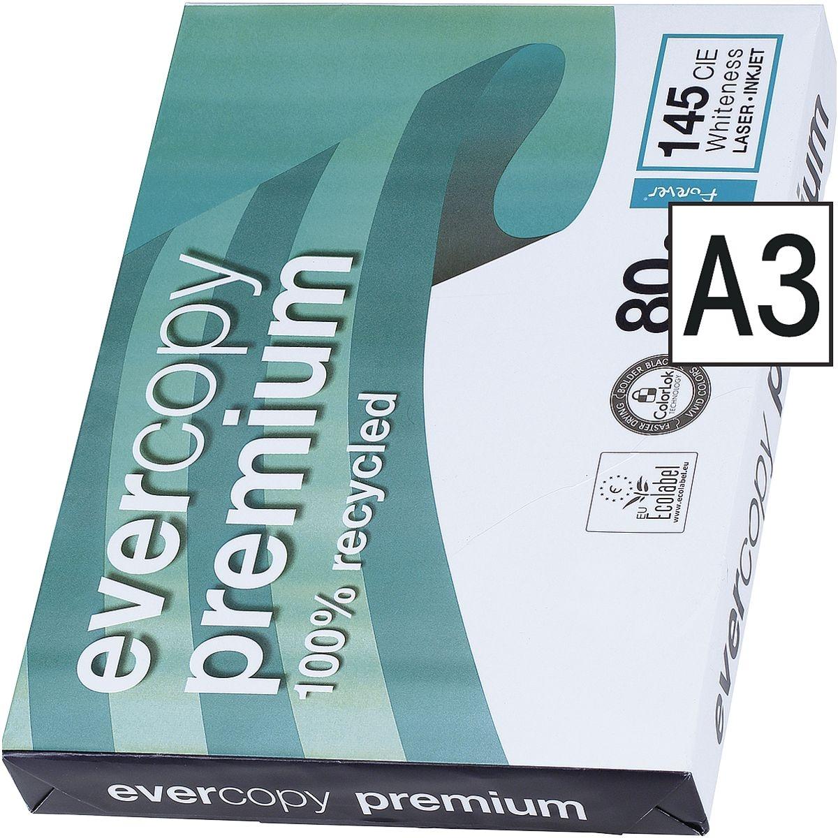 Papier photocopieur recyclé A3 Clairefontaine Everycopy Premium - 500 feuilles au total