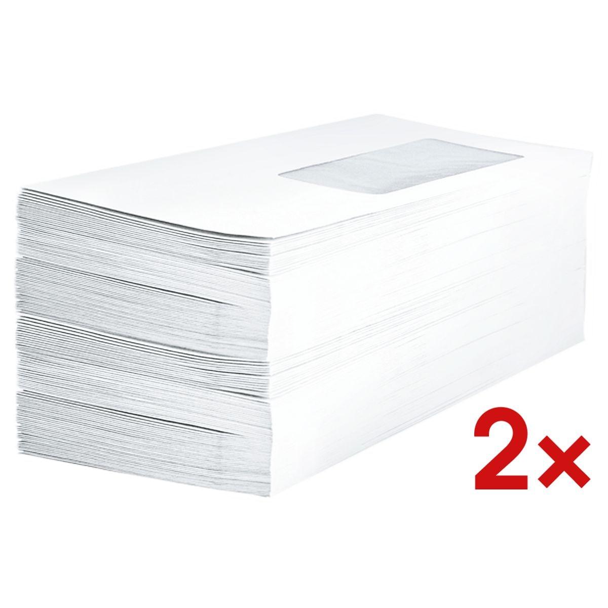 Enveloppes BONG, DL 80 g/m² avec fenêtre - 1000 pièce(s)