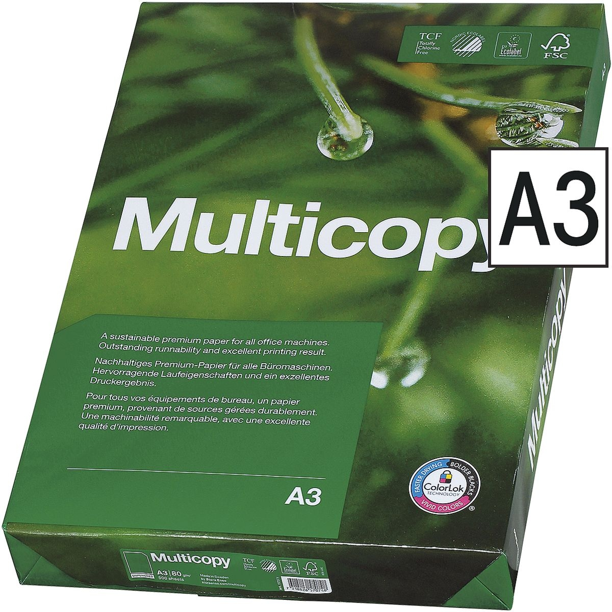 Papier multifonction A3 MultiCopy MultiCopy - 500 feuilles au total
