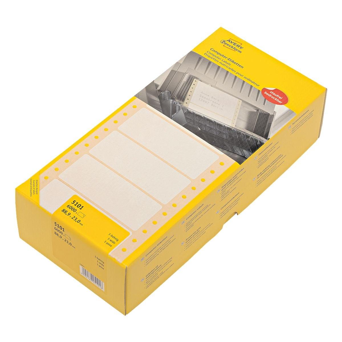 Avery Zweckform Paquet de 6000 étiquettes ordinateur « 5101 »