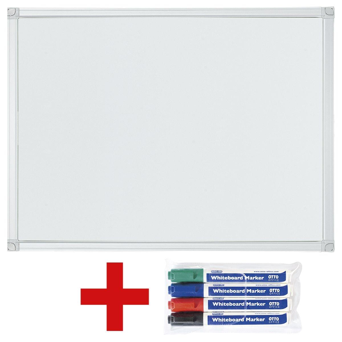 otto office tableau blanc 60 x 45 cm avec lot de 4 feutres tableau blanc acheter prix. Black Bedroom Furniture Sets. Home Design Ideas