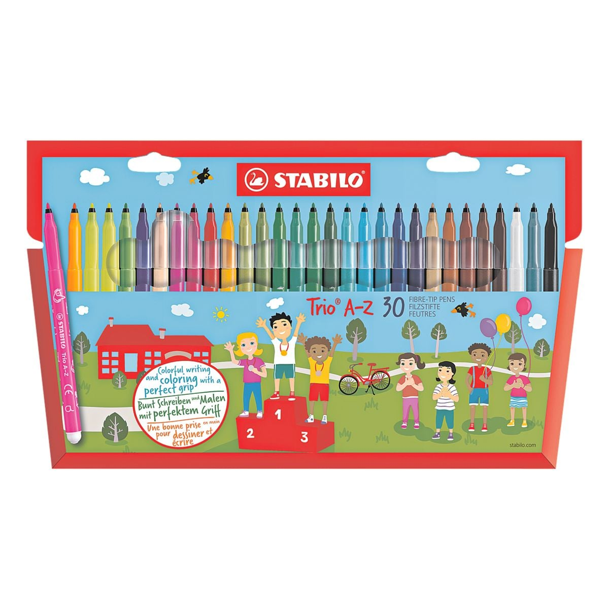 STABILO Paquet de 30 stylos feutres « Trio® A-Z »