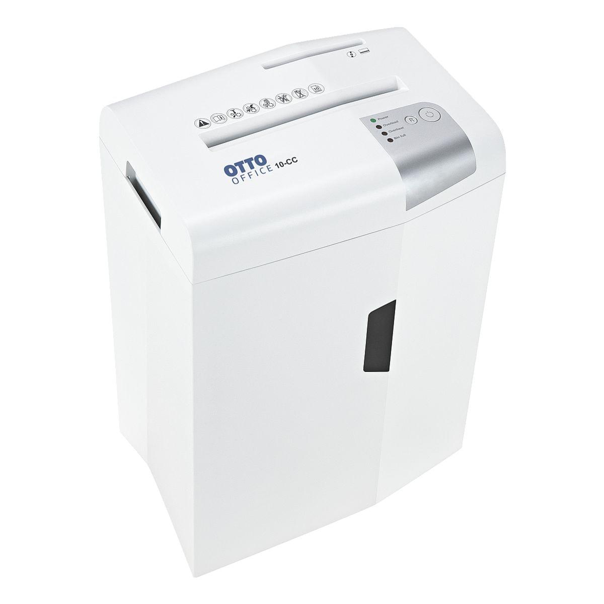 destructeur de documents OTTO Office 10-CC, Niveau de sécurité 4, coupe « croisée » (4,5 x 30 mm) jusqu'à 10 feuille(s)