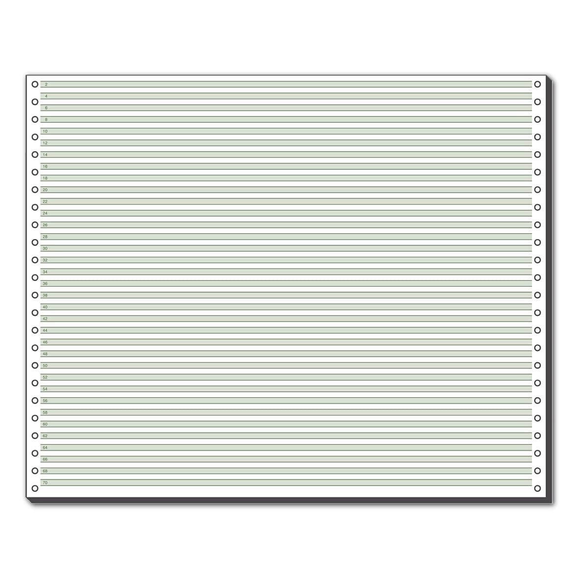 SIGEL Papier listing 12371 A3 paysage vert ligné 60 g
