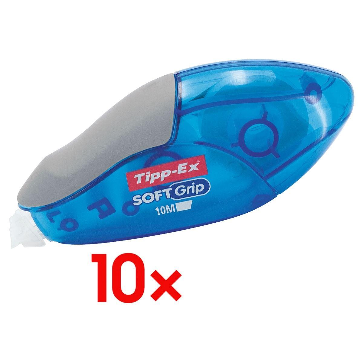 10x Tipp-Ex Roller de correction jetable Soft Grip, 4,2 mm / 10 m