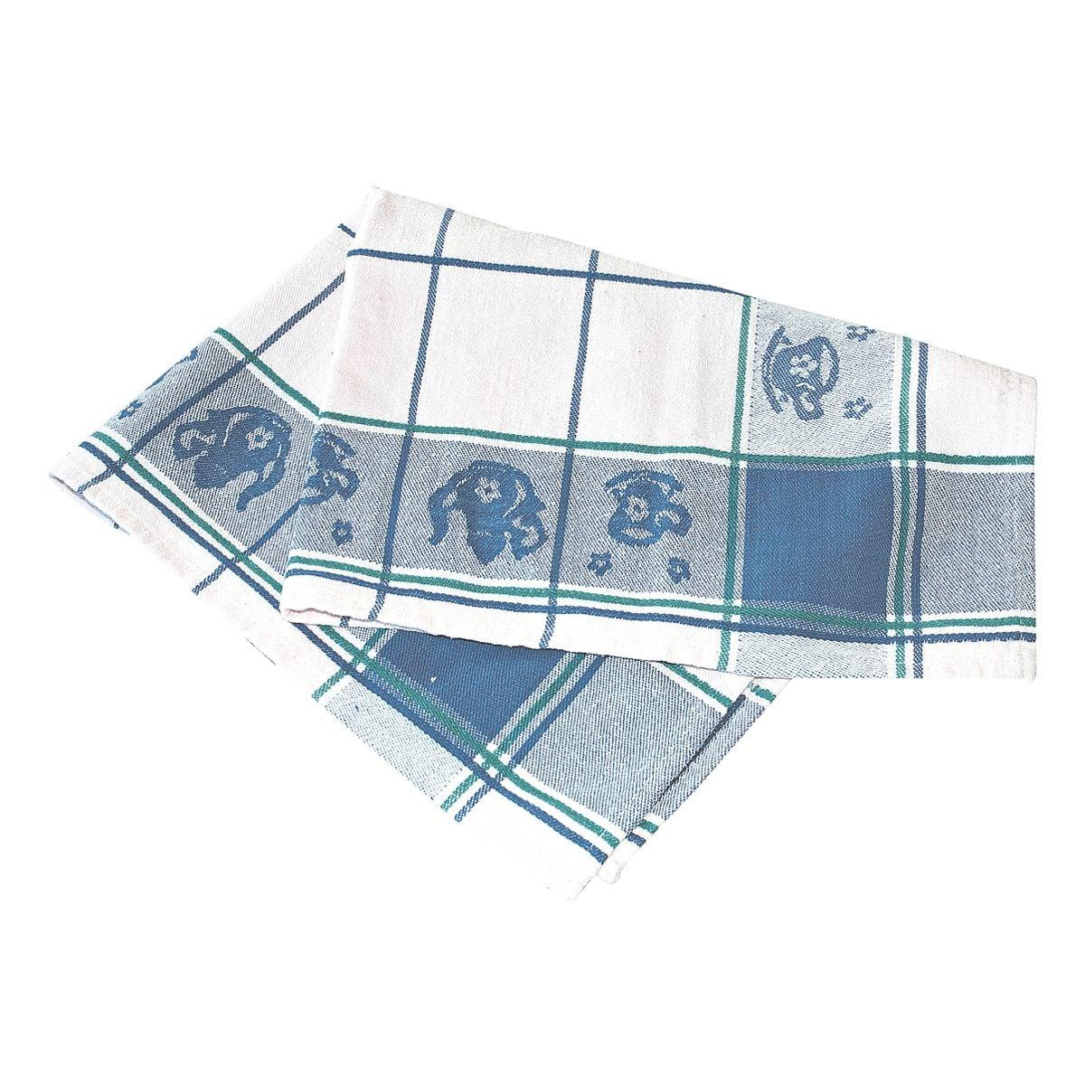 HYGO STAR Paquet de 3 torchons à vaisselle « maison de campagne »