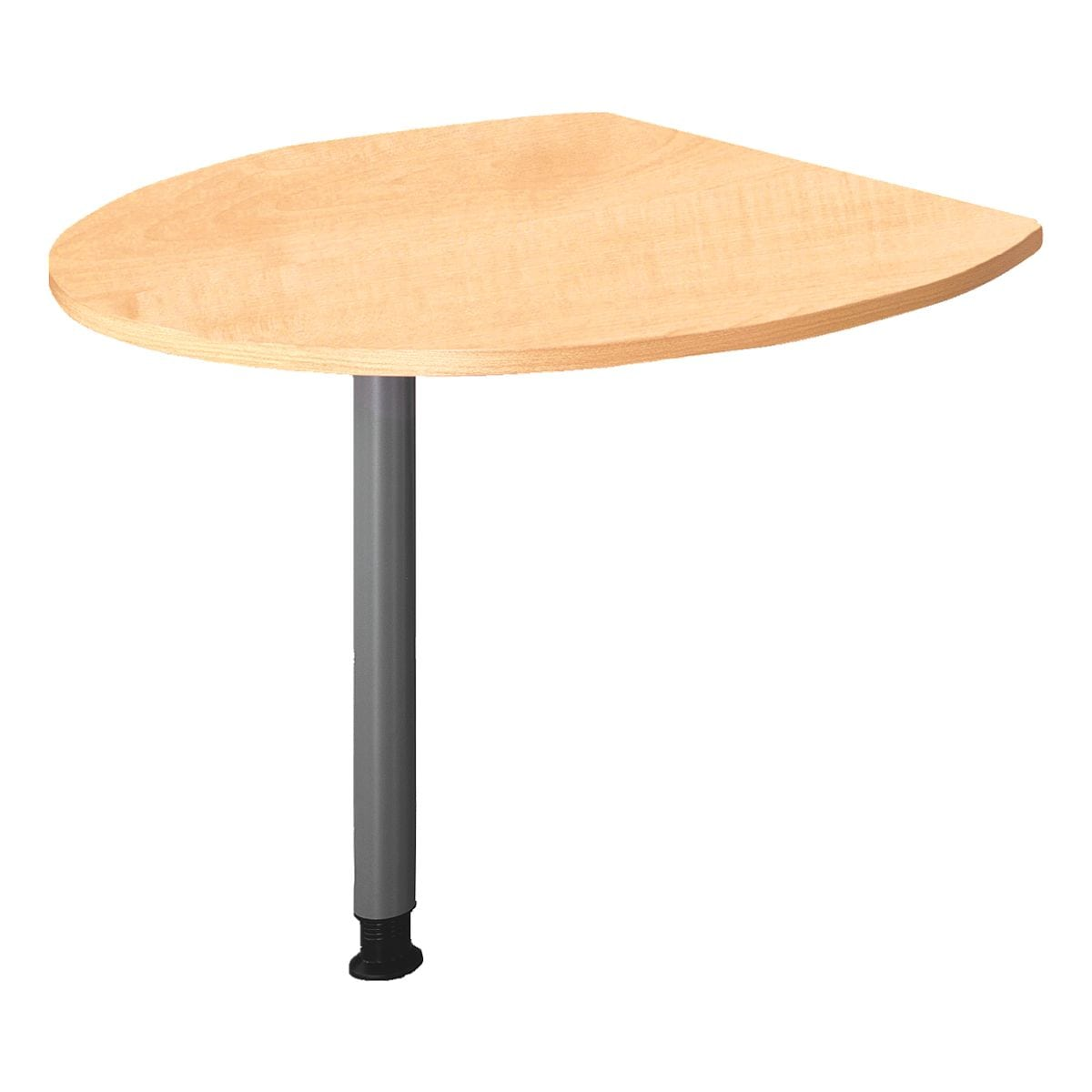 HAMMERBACHER Table d'extension 100x80 cm avec pied de renfort