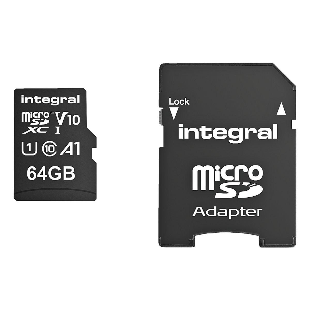 integral Carte mémoire microSDHC 64 GB