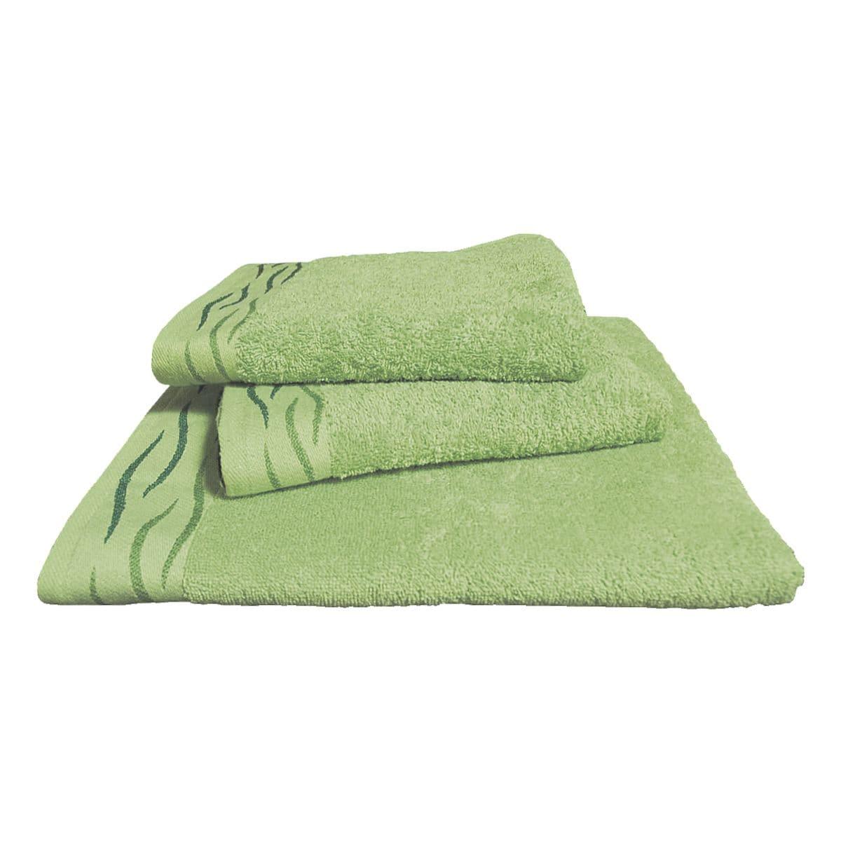 dyckhoff Paquet de 2 serviettes pour visiteurs éponge « Wave » 30 x 50 cm