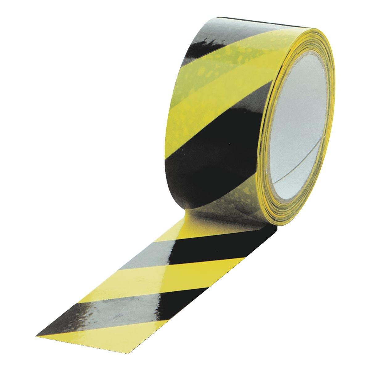 Supra Ratiopac Ruban adhésif d'avertissement « rayures diagonales - jaune/noir »