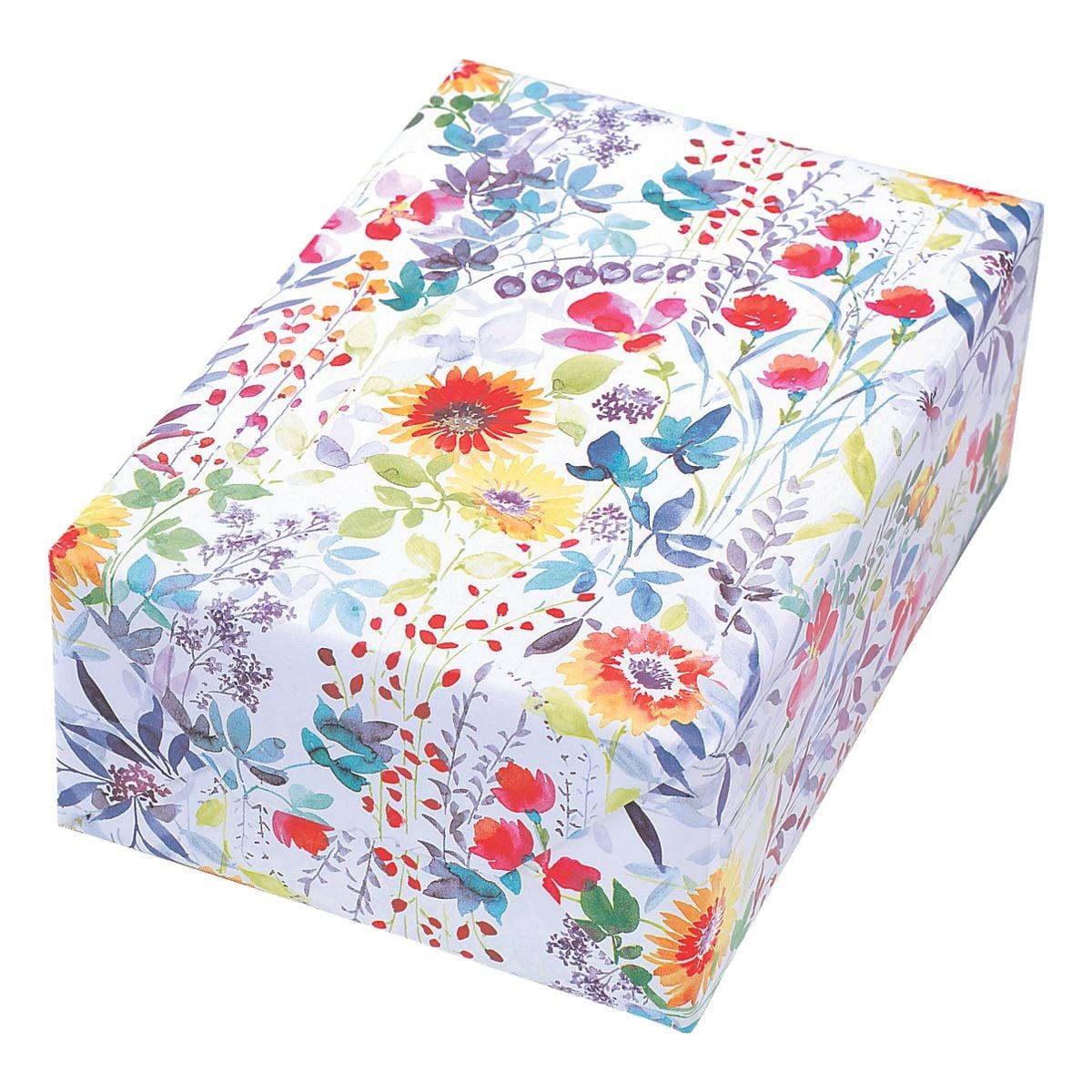 JUNG Papier cadeau « Blooms » 50 cm x 20 m