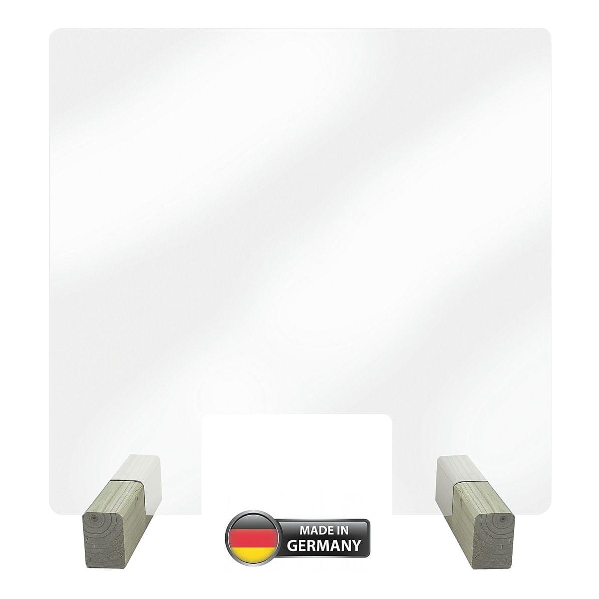 LMG Paroi de protection transparente contre projections nasales et buccales 50 x 50 cm