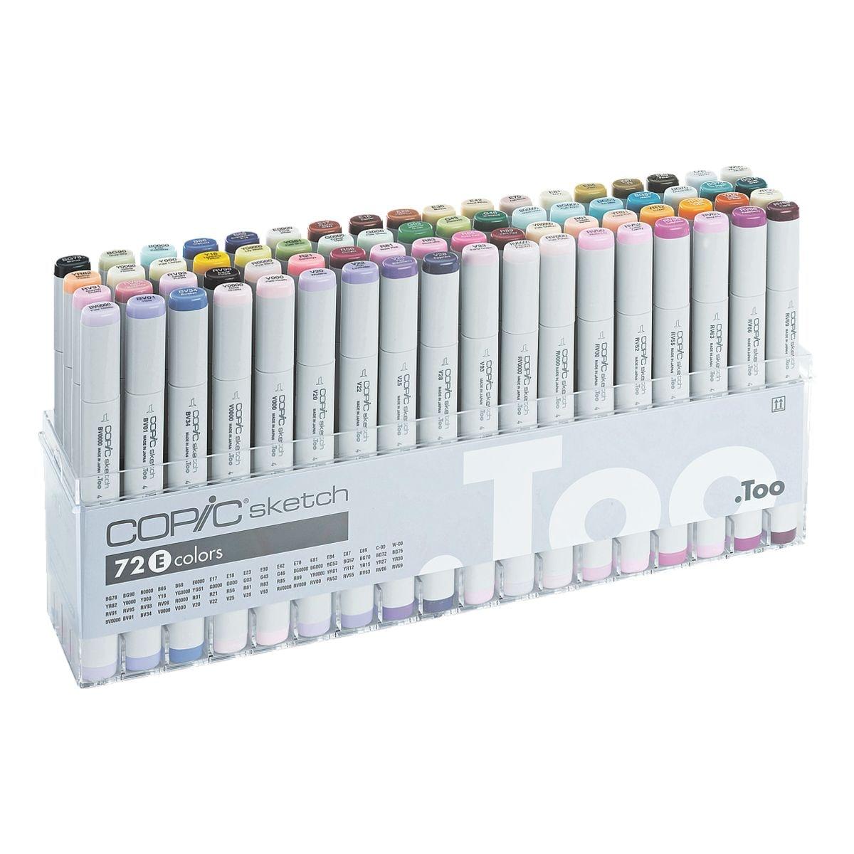 COPIC® Sketch Lot de 72 marqueurs COPIC® Sketch E