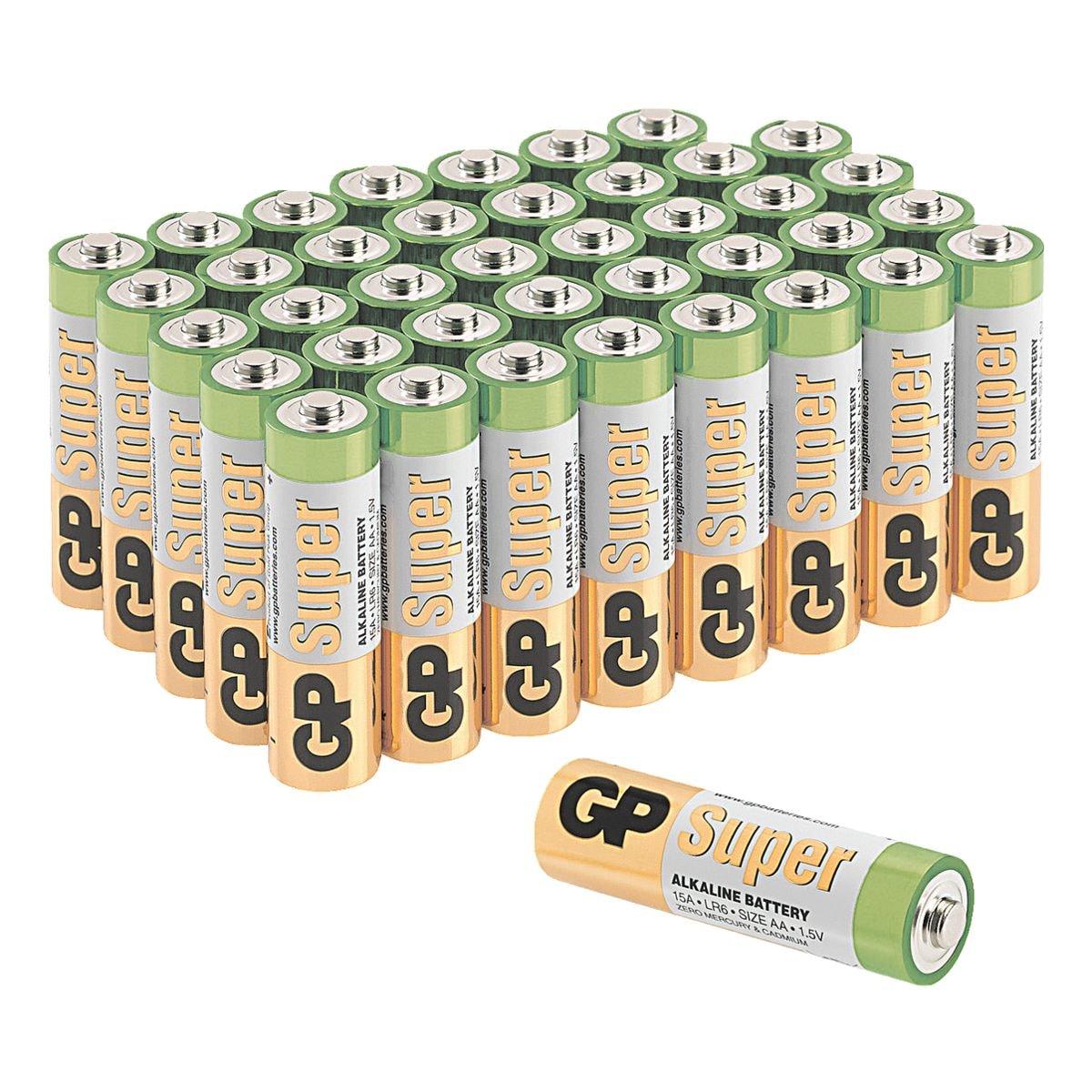 GP Batteries Paquet de 40 piles « Super Alkaline » Mignon / AA / LR06