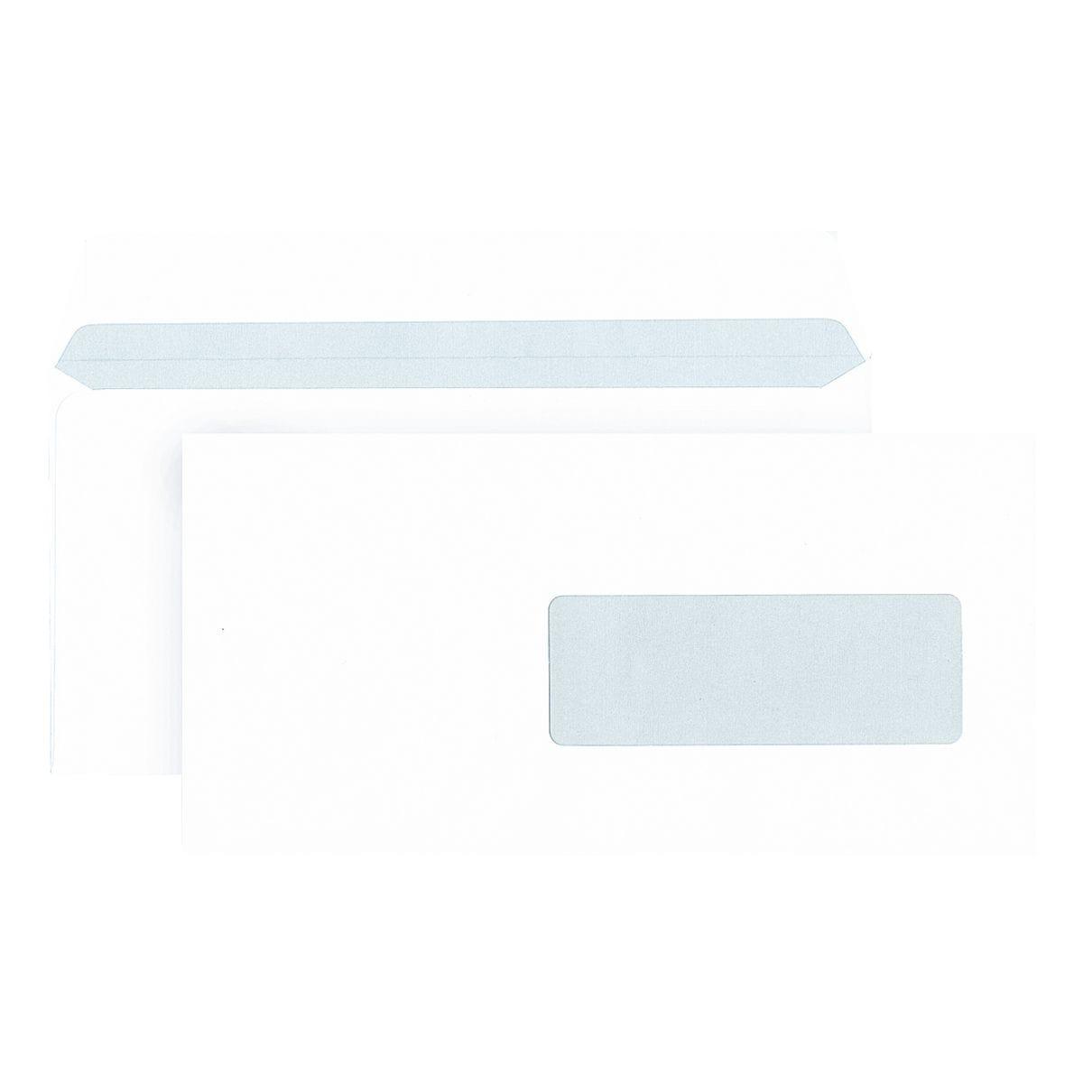 enveloppes Mailmedia, DL+ 80 g/m² avec fenêtre, fermeture à bande adhésive - 500 pièce(s)