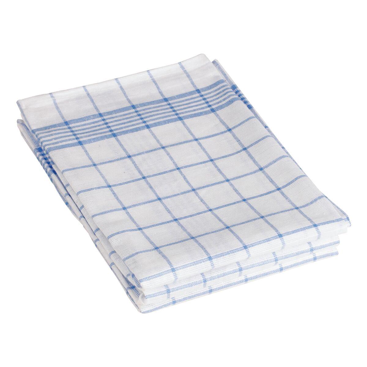 Torchons «Carreaux bleus/blancs» en paquet de 3