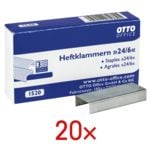OTTO Office 20 paquets d'agrafes « 24/6 »