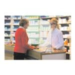 Rehausse de protection contre projections nasales et buccales en verre acrylique 84,5 x 24 x 67 cm