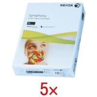 5x Papier couleur A4 Xerox Symphony - 2500 feuilles au total