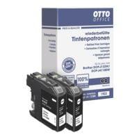 OTTO Office Paquet double de cartouches équivalent Brother « LC123BK »