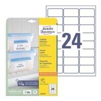 Avery Zweckform Étiquettes pour surgelés 63,5 x 33,9 mm 600 pièces « L7970-25 »