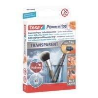 Powerstrips « Transparent Large » 58810 jusqu'à 1 kg