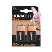Duracell Paquet de 2 piles « Plus » bloc E / 6LR61