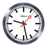 Peweta Uhren Horloge murale radioguidée DCF77 avec aiguille des secondes de gare Ø 30 cm