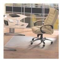 plaque protège-sol pour sols durs, vinyle, rectangulaire 115 x 134 cm, Floortex Plaque protège-sol