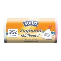Swirl sacs poubelle 35 L blanc - 15 pièce(s)