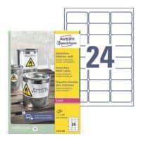 Avery Zweckform Étiquettes film résistantes aux intempéries 63,5 x 33,9 mm « L4773-100 »
