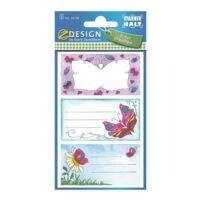 ZDesign Étiquettes livres « Papillon »