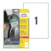 Avery Zweckform Étiquettes film ultra résistantes 210x297 mm (format A4) L7917-10