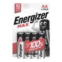 Energizer Paquet de 4 piles « Max Alkaline » Mignon / AA / LR06