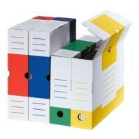 cartonia Boîtes à archives « Color » 8,3 cm large et triées par couleur - 8 pièces