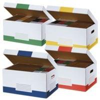 cartonia Cartons à couvercle rabattable « Color » - 10 pièces