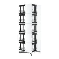 Moll Colonne rotative pour classeurs « Squarefile » pour 80 classeurs à 5 étages