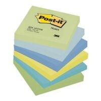 6x Post-it Notes bloc de notes repositionnables Dreamy 654 7,6 x 7,6 cm, 600 feuilles au total, couleurs assorties