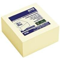 OTTO Office Bloc cube de notes repositionnables jaune 75x75 mm 400 feuilles