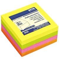 OTTO Office Bloc cube de notes repositionnables 4 couleurs fluo 75x75 mm 400 feuilles