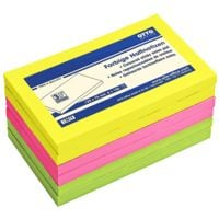 6x OTTO Office bloc de notes repositionnables 12,5 x 7,5 cm, 600 feuilles au total, couleurs assorties