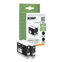 KMP Paquet de 2 cartouches équivalent Brother « LC-1000Bk »