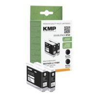 KMP Paquet de 2 cartouches équivalent Brother « LC-970Bk »
