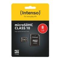 Intenso Carte mémoire micro SDHC « Intenso Class10 8GB »