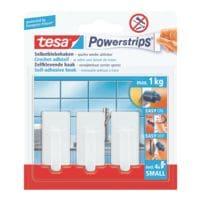 tesa Powerstrips « crochets small » angulaires jusqu'à 1 kg 57530