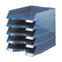 5x HAN Corbeille courrier VIVA, C4 polystyrène, empilable jusqu'à 20 pièces