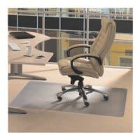plaque protège-sol pour moquettes, vinyle, rectangulaire 120 x 150 cm, Floortex Plaque protège-sol vinyl